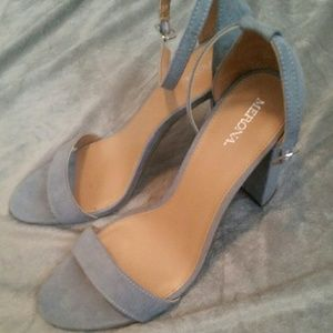 Merona Light Blue Suede Heels
